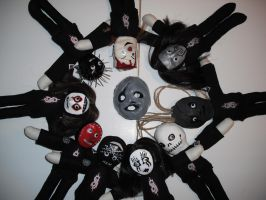 Slipknot Plushies For Sale by thedollmaker