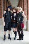 Noctis, Prompto, and Iris by Hikari-Cosplay