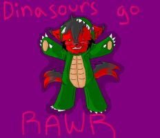 .:Dinasours go Rawr:. by hakura-lives