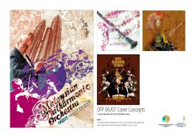 Concert booklet  covers by sunderland7