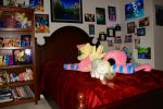 Giant 45 in. Fluttershy Plushie (made by Agatrix!) by FlutterbatIsMagic