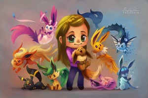 Eeveelutions Chibi Commission by TsaoShin