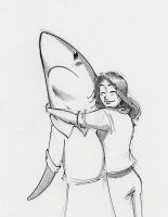 Hug A Land Shark by RobtheDoodler