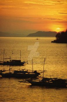 Flores sunset on the bay by balibob