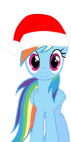 Christmas Rainbow Dash by DrumblastingQuilava