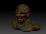 Orc Bust (Color) - Zbrush by GamerBiscuit