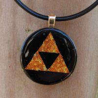 Round Fused Glass Triforce by FusedElegance