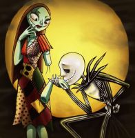 Jack and Sally by TheQueenOfManga