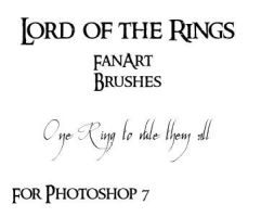 Lord of the Rings FanArt Brush by didyoubelieve