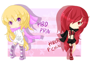 [Gift] HBD P'Rin and P'Chin by Taengm6