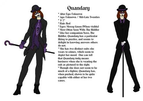 Reference Sheet - Quandary by Idgit