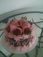 Mother's Day Strawberries in Pink by simplysweets