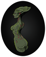 alien woman torso by Entropician