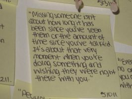 Post-it quote by xsheervanilla