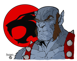 Panthro lineart Colored by ZhaneAugustine