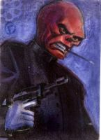 Red Skull- Sketch Card by riq