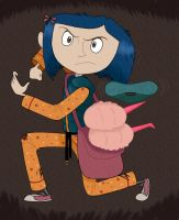 Coraline: Stone Throwing by Graystripe64