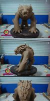 Foo dog toy preliminary sculpt by missmonster