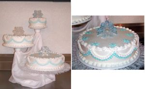 Winter Wonder Wedding Cake by ayarel