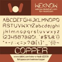 copper font by weknow by weknow