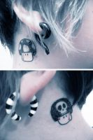 behind my ear tattoos by brittymon37