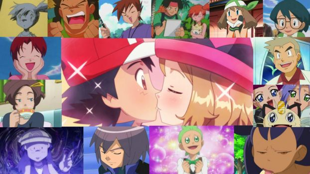 everyone reaction on Ash first Kiss (Update) by BlackOtakuZ