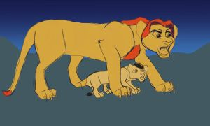 Mufasa And Scar WIP by SapphireSquire
