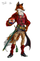 COMMISSION: KDF fox with badge by VKliza