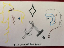 Brothers in All But Blood- Minimalist by passingfancyrae