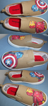 Lego Hand Painted Shoes by DruidicDesigns