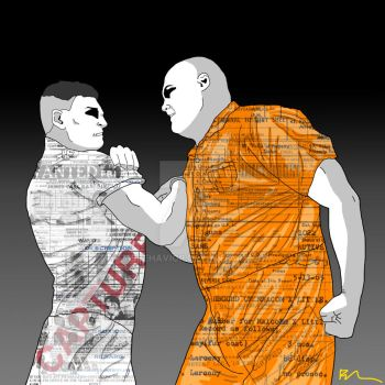 Wilson Fisk and Frank Castle by MsBehavior