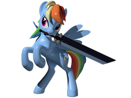 Sword Dash 3D Model by Clawed-Nyasu