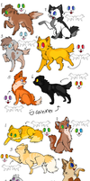 Cat and Dog Adoptables by Daywalker4800