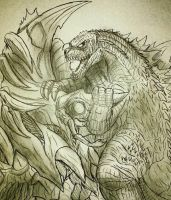 KM : Godzilla vs. Mother Legion  by Erickzilla