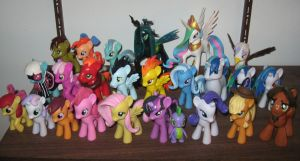 All my custom ponies so far by AleximusPrime