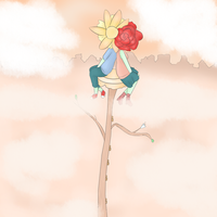 you, me and a flower tree by RibbonDrop