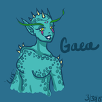 March 30th Sketch - Gaea by lilena