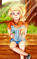 Annabeth's Reading Time by Greeni5