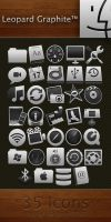 Leopard Graphite Icon Pack by caeszer
