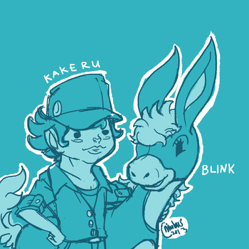 Kakeru and Blink by nimbusnymbus