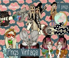 Pngs Vintage -MaayMustache by MaayMustache