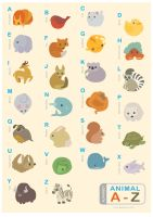 Animal Alphabet Poster by MyBeautifulMonsters