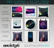 Society6 Shwag + Rugs! by KovoWolf