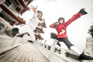 Hetalia: Japan and HK by fweeeeh