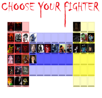 Creepypasta fighting game character select screen by ronmart12