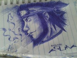 Sarutobi Asuma (in notebook paper) by meochristmas