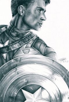 Captain America by OliveArtOlive