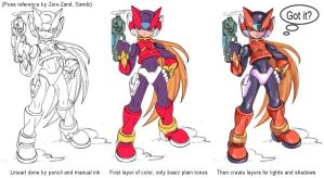 Tutorial: Rockman Zero by CarmenMCS