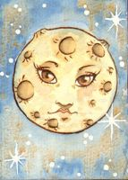 ACEO Full Moon by vrm1979