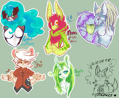 Charas i've adopted busts batch 1 by MystikMeep